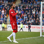 22.09.2019 St Johnstone v Rangers: Connor Goldson heads in goal no 2 for Rangers and celebrates