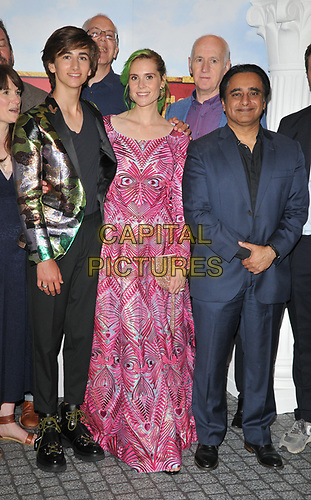 """Sebastian Croft, Kate Nash and Sanjeev Bhaskar at the """"Horrible Histories: The Movie - Rotten Romans"""" world film premiere, Odeon Luxe Leicester Square, Leicester Square, London, England, UK, on Sunday 07th July 2019.<br /> CAP/CAN<br /> ©CAN/Capital Pictures"""