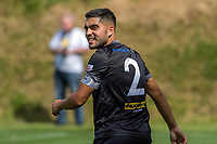 Team Wellington captain Justin Gulley during the ISPS Handa Premiership football match between Team Wellington and Hamilton Wanderers at David Farrington Park in Wellington, New Zealand on Sunday, 18 March 2018. Photo: Dave Lintott / lintottphoto.co.nz