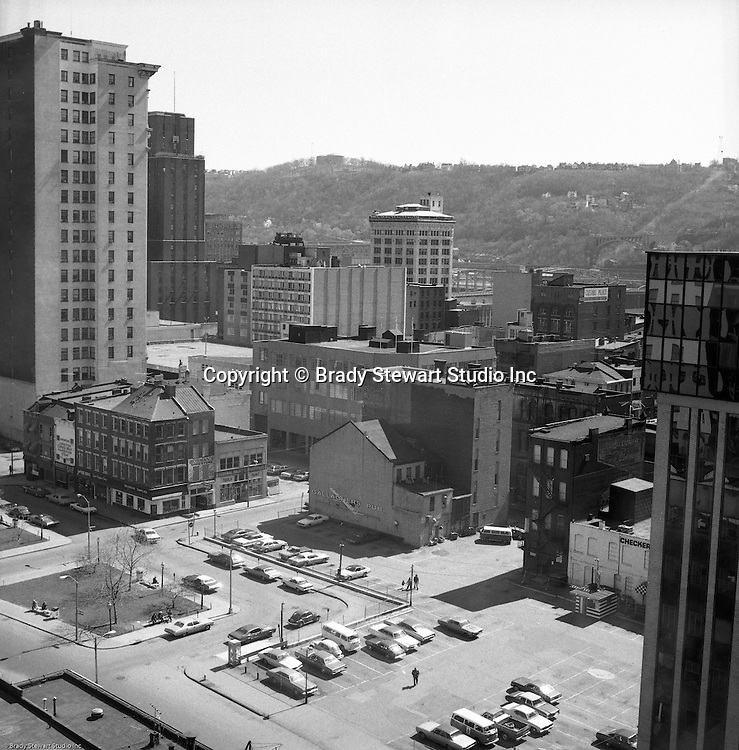 Pittsburgh PA:  View of Market Square from the offices of WF Minnick and Associates in the Diamond Building.  These images were taken after it was announced that PPG would be building a new headquarters next to Market Square.