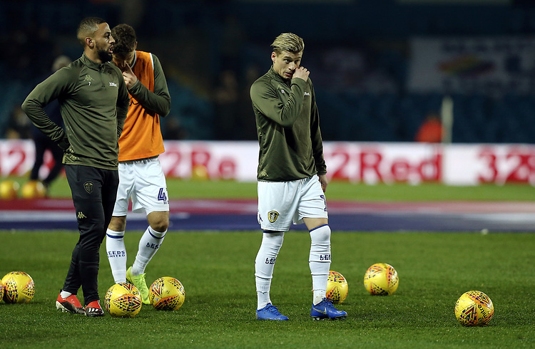 Leeds United's Ezgjan Alioski during the pre-match warm-up <br /> <br /> Photographer Rich Linley/CameraSport<br /> <br /> The EFL Sky Bet Championship - Leeds United v Reading - Tuesday 27th November 2018 - Elland Road - Leeds<br /> <br /> World Copyright © 2018 CameraSport. All rights reserved. 43 Linden Ave. Countesthorpe. Leicester. England. LE8 5PG - Tel: +44 (0) 116 277 4147 - admin@camerasport.com - www.camerasport.com
