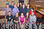 Amanda Kelly, Maulykeavane, Headford, Killarney, centre, pictured with Robert Hilliard, Eileen Spring, Breda Adair, Barry Kelleher, Jason Stack, Gene Kelly, David Clail, Donal Murphy, Katie Looney, Jamie Wrenn, Sheila O'Connor and Jacqui Hurley as she held her leaving party from Homebase, Killarney, in Darby O'Gills hotel, Killarney on Saturday night.