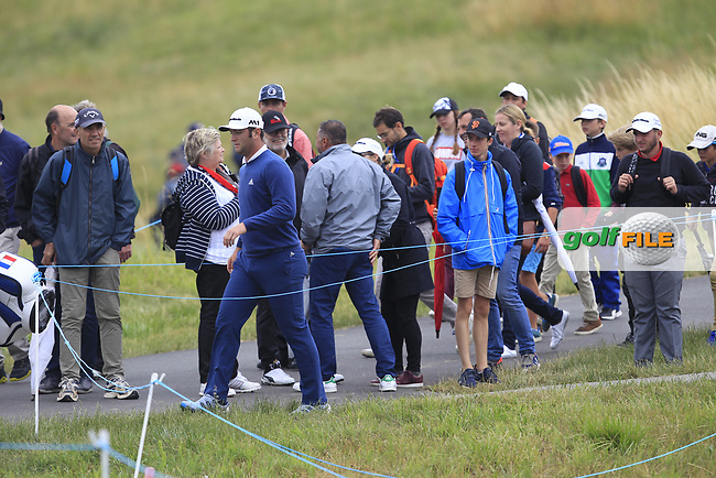 Jon Rahm (ESP) walking to the 3rd tee during Round 2 of the HNA Open De France  at The Golf National on Friday 30th June 2017.<br /> Photo: Golffile / Thos Caffrey.<br /> <br /> All photo usage must carry mandatory copyright credit      (&copy; Golffile | Thos Caffrey)