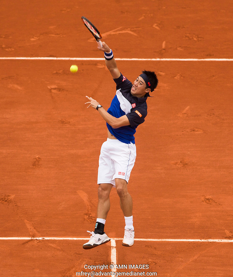 KEI NISHIKORI (JPN)<br /> <br /> Tennis - French Open 2015 -  Roland Garros - Paris -  ATP-WTA - ITF - 2015  - France <br /> <br /> &copy; AMN IMAGES