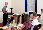 Sept. 4, 2012; Professor Patrick Dunn teaches in the London Centre...Photo by Matt Cashore/University of Notre Dame