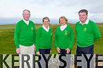Eugene O'Callaghan (President),  Bernie Buckley (Lady Captain Tralee Golf Club) Deirdre McElligott (Lady President) Ger O'Connor (Captain Tralee Golf Club) at the Tralee Golf Club Capts Drive-in on Sunday