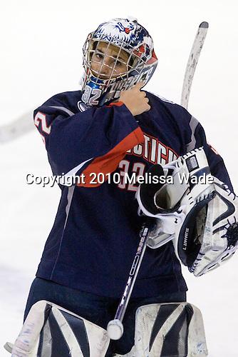 Jennie Bellonio (UConn - 32) - The University of Connecticut Huskies defeated the Northeastern University Huskies 4-1 in Hockey East quarterfinal play on Saturday, February 27, 2010, at Matthews Arena in Boston, Massachusetts.