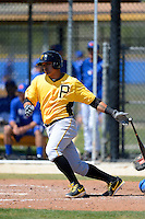 Pittsburgh Pirates first baseman Jose Osuna #36 during a minor league spring training game against the Toronto Blue Jays at Englebert Minor League Complex on March 16, 2013 in Dunedin, Florida.  (Mike Janes/Four Seam Images)