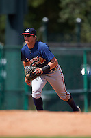 Atlanta Braves Austin Riley (90) during an instructional league game against the Toronto Blue Jays on September 30, 2015 at the ESPN Wide World of Sports Complex in Orlando, Florida.  (Mike Janes/Four Seam Images)