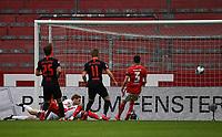 24th May 2020, Opel Arena, Mainz, Rhineland-Palatinate, Germany; Bundesliga football; Mainz 05 versus RB Leipzig; Goalie Florian Mueller (FSV Mainz 05) as  Daniel Olmo Carvajal (RB Leipzig) watches Timo Werner (RB Leipzig) score for 0:4