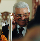 Washington, D.C. - November 26, 2007 -- President Mahmoud Abbas of the Palestinian Authority participates in a dinner at the State Department in Washington on the eve of a Middle East peace conference on November 26, 2007. United States President George W. Bush is hosting Palestinian President Mahmoud Abbas and Israeli Prime Minister Ehud Olmert. .Credit: Roger L. Wollenberg - Pool via CNP