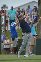 Shane Lowry (IRL) watches his tee shot on 3 during round 3 of The Players Championship, TPC Sawgrass, at Ponte Vedra, Florida, USA. 5/12/2018.<br /> Picture: Golffile | Ken Murray<br /> <br /> <br /> All photo usage must carry mandatory copyright credit (&copy; Golffile | Ken Murray)