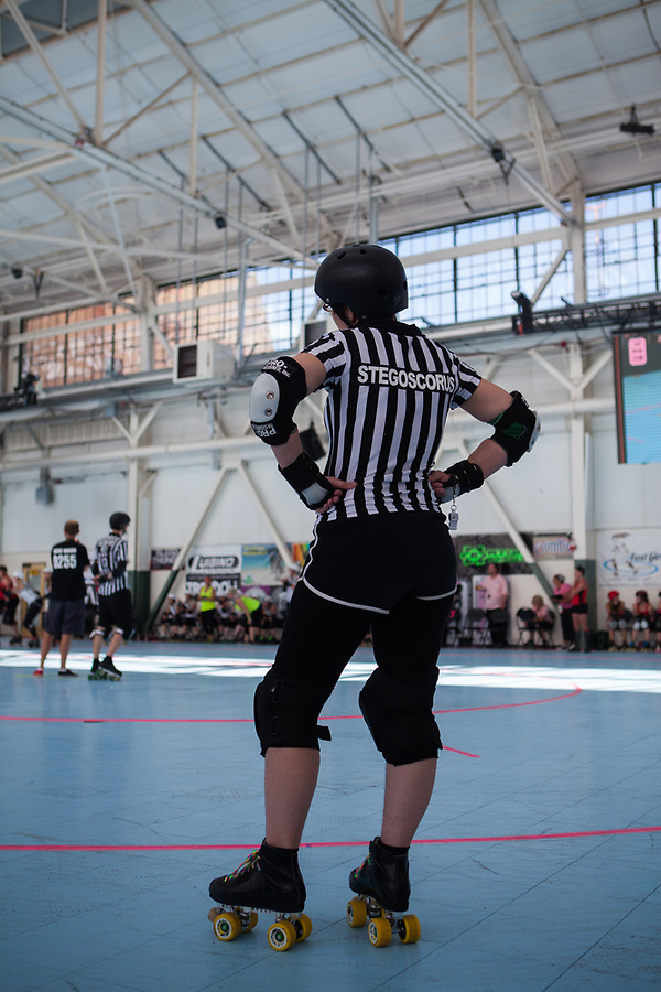 The Rat City Rollergirls from Seattle defeat the Rocky Mountain Rollergirls of Denver during the 2012 WFTDA West Region Playoffs.