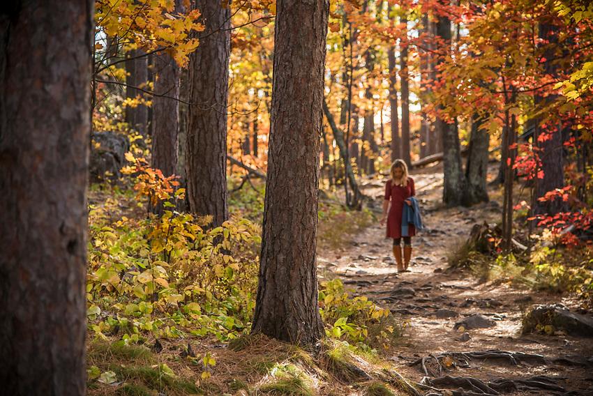 Fall hike up Sugarloaf Mountain, Marquette, Michigan.