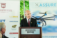 Celebration: MSU selected by FFA to lead National Center of Excellence for Unmanned Aircraft Systems - David Shaw talking<br />  (photo by Megan Bean / &copy; Mississippi State University)