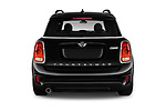 Straight rear view of a 2018 Mini Countryman Oakwood 5 Door Hatchback stock images