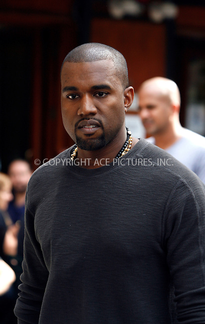 WWW.ACEPIXS.COM . . . . .  ....October 11 2011, New York City....Hip hop artist Kanye West leaving a Soho hotel on October 11 2011 in New York City......Please byline: CURTIS MEANS - ACE PICTURES.... *** ***..Ace Pictures, Inc:  ..Philip Vaughan (212) 243-8787 or (646) 679 0430..e-mail: info@acepixs.com..web: http://www.acepixs.com