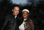 Olympic skater Johnny Weir poses with Star Jones at the 2009 Skating with the Stars - a benefit gala for Figure Skating in Harlem on April 6, 2009 at Wollman Rink, Central Park, NYC, NY. (Photo by  Sue Coflin/Max Photos)