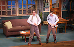 Larry Pine and Vincent Kartheirser during the Off-Broadway opening Night Performance Curtain Call for 'Billy & Ray' at the Vineyard Theatre on October 20, 2014 in New York City.