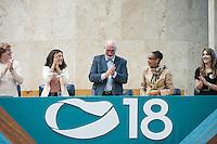 SÃO PAULO,SP, 28.07.2016 - ELEIÇÕES-SP - Durante Convenção realizada na Câmara Municipal de São Paulo, a Rede Sustentabilidade, lança oficialmente a candidatura do empresário Ricardo Young a prefeito da Capital Paulista e Carlota Mingolla como vice. Nesta quinta-feira, 28 .  (Foto: Rogério Gomes/Brazil Photo Press)