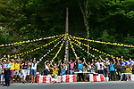 Fans wait for the riders to pass during Stage 10 of the 104th edition of the Tour de France 2017, running 178km from Perigueux to Bergerac, France. 11th July 2017.<br /> Picture: ASO/Pauline Ballet | Cyclefile<br /> <br /> <br /> All photos usage must carry mandatory copyright credit (&copy; Cyclefile | ASO/Pauline Ballet)
