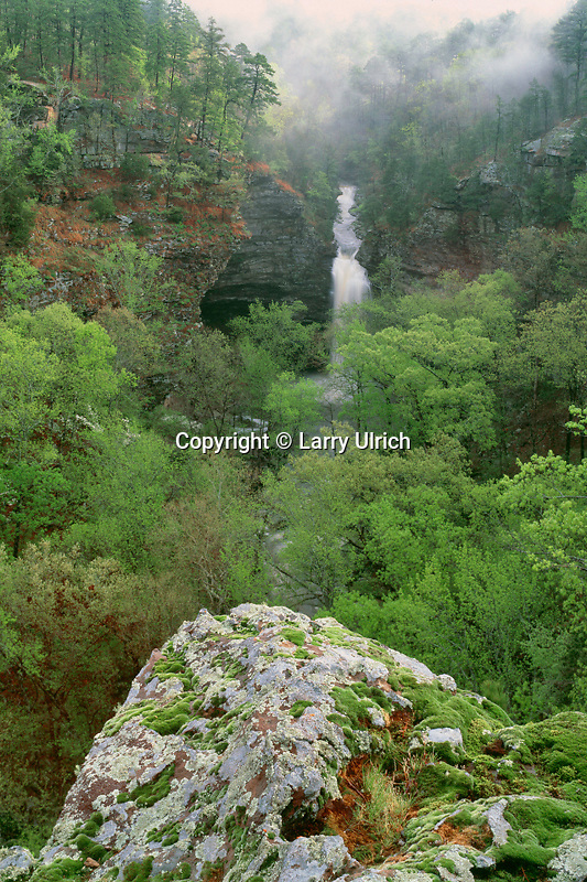 Cedar Falls<br /> Cedar Creek Canyon<br /> Petit Jean State Park<br /> Conway County,  Arkansas