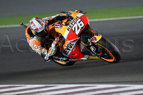 28.03.2015. Losail, Doha. MotoGP. Qatar Grand Prix Qualifying. Dani Pedrosa (Repsol Honda) during qualifying sessions