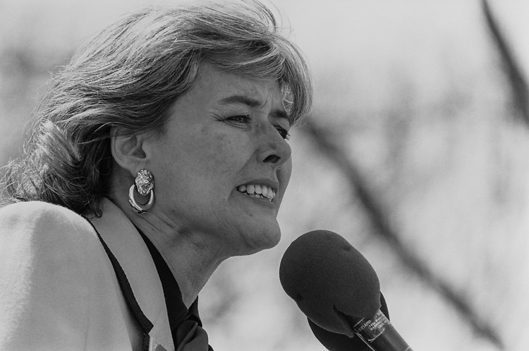 Rep. Patricia Schroeder, D-Colo., in April 1992. (Photo by Chris Ayers/CQ Roll Call)
