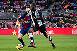 Shaquell Moore, Shaq Moore (R), of Levante UD fights for the ball with Andres Iniesta Lujan of FC Barcelona during the La Liga 2017-18 match between FC Barcelona and Levante UD at Camp Nou on 07 January 2018 in Barcelona, Spain. Photo by Vicens Gimenez / Power Sport Images