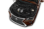 Car Stock 2016 Lexus RX 350 5 Door SUV Engine  high angle detail view