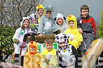SHAMROCK TIME: Enjoying the Killorglin St Patrick's Day parade on Saturday front l-r: George Boyle, Gavin Boyle and Lucey Cahill. Back l-r: Katie Boyle, Rachel Boyle,m Chloe Joy, Avril Murphy, Elva Clenndennen, Patrick Sheehy and Andrew Boyle...