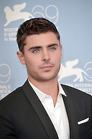 VENICE, ITALY - AUGUST 31: Actor Zac Efron attends the 'At Any Price' photocall during the 69th Venice Film Festival at the Palazzo del Casino on August 31, 2012 in Venice, Italy AFG / Mediapunchinc
