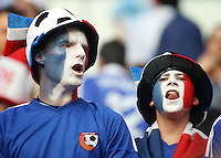 French fans celebrate prior to the game. France defeated Togo 2-0 in their FIFA World Cup Group G match at FIFA World Cup Stadium, Cologne, Germany, June 23, 2006.