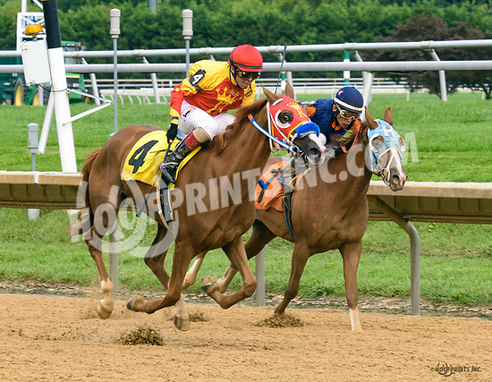 RB Kinkie Boots winning at Delaware Park on 8/12/17