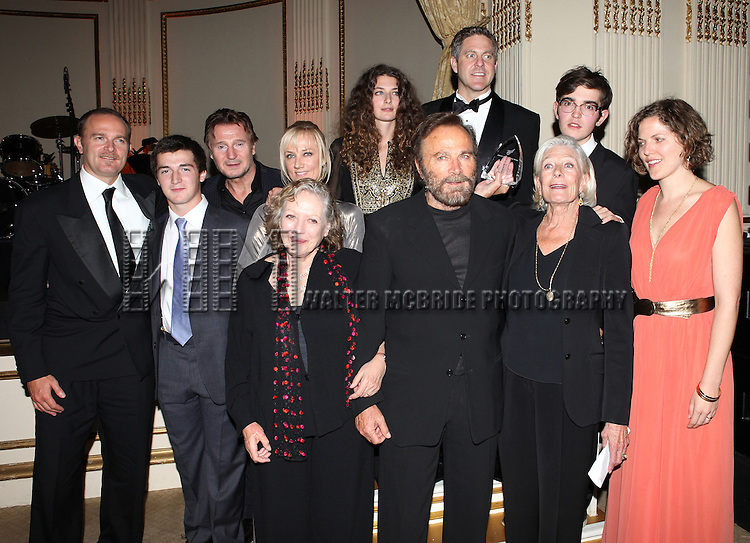 Vanessa Redgrave, Liam Neeson, Joely Richardson, Carlo Gabriel Nero,Daisy Bevan, Franco Nero, Kika Markham, Annabel Clark & Family attending the American Theatre Wing's annual gala at the Plaza Hotel on Monday Sept. 24, 2012 in New York.