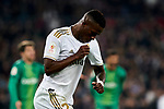 Vinicius Junior of Real Madrid celebrates goal during La Liga match between Real Madrid and Real Sociedad at Santiago Bernabeu Stadium in Madrid, Spain. February 06, 2020. (ALTERPHOTOS/A. Perez Meca)