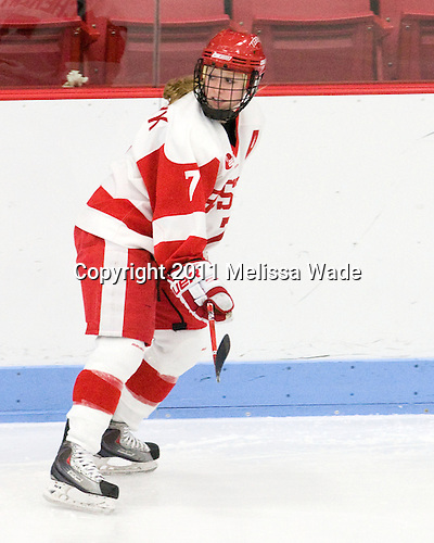 Lauren Cherewyk (BU - 7) - The Boston University Terriers defeated the visiting Mercyhurst College Lakers 4-2 in their NCAA Quarterfinal matchup on Saturday, March 12, 2011, at Walter Brown Arena in Boston, Massachusetts.