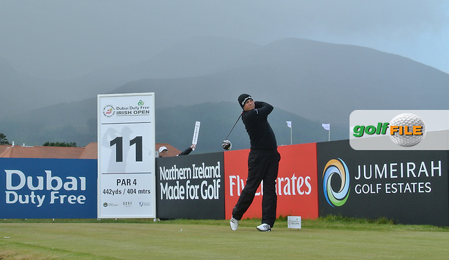 Greame Storm (ENG) on the 11th tee during Round 1 of the 2015 Dubai Duty Free Irish Open, Royal County Down Golf Club, Newcastle Co Down, Northern Ireland. 28/05/2015<br /> Picture Thos Caffrey, www.golffile.ie