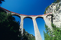 The Landwasserviadukt at Filisur offers the most breathteaking view along the route of Glacier Express.