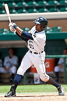 Daniel Fields (45) of the Lakeland Flying Tigers during a game vs. the Ft. Myers Miracle June 6 2010 at Joker Marchant Stadium in Lakeland, Florida. Ft. Myers won the game against Lakeland by the score of 2-0.  Photo By Scott Jontes/Four Seam Images