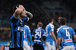 Lautaro Martinez of Inter reacts during the Coppa Italia match at Giuseppe Meazza, Milan. Picture date: 12th February 2020. Picture credit should read: Jonathan Moscrop/Sportimage