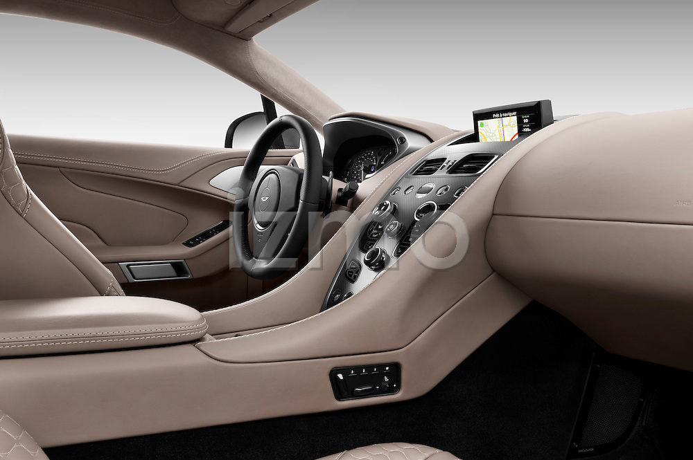 Passenger side dashboard view of a 2012 - 2014 Aston Martin Vanquish 2+2 Coupe.
