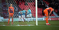 Rovers players celebrate taking the lead, Doncaster, United Kingdom, 26th December 2017. Photo by Glenn Ashley.