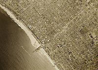 historical aerial photograph Santa Monica California 1947