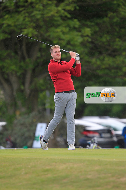 Gary Ward (Kinsale) on the 1st tee during Round 3 of the East of Ireland Amateur Open Championship at Co. Louth Golf Club in Baltray on Sunday 4th June 2017.<br /> Photo: Golffile / Thos Caffrey.<br /> <br /> All photo usage must carry mandatory copyright credit     (&copy; Golffile | Thos Caffrey)