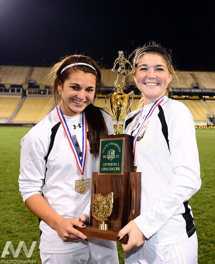 Nov 9, 2012; Columbus, OH, USA; Perrysburg Yellow Jackets defeated Mason Comets 1-0 to win the 2012 State Championship at Columbus Crew Stadium. Mandatory Credit: Andrew Weber