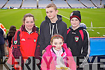 Roisin O'Sullivan, Joe Doyle Joanne McCarthy and Ciarán O'Sullivan (Kenmare) pictured at Croke Park on Sunday for the Kenmare vs Ballinasloe final.