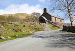 Village church, Buttermere, Cumbria, England, UK