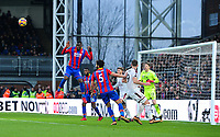 Crystal Palace's Christian Benteke <br /> <br /> Photographer Ashley Crowden/CameraSport<br /> <br /> The Premier League - Crystal Palace v Burnley - Saturday 13th January 2018 - Selhurst Park - London<br /> <br /> World Copyright &copy; 2018 CameraSport. All rights reserved. 43 Linden Ave. Countesthorpe. Leicester. England. LE8 5PG - Tel: +44 (0) 116 277 4147 - admin@camerasport.com - www.camerasport.com