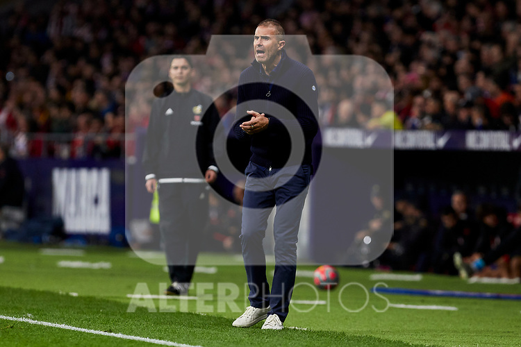 Gaizka Garitano coach of Athletic Club de Bilbao during the La Liga match between Atletico de Madrid and Athletic Club de Bilbao at Wanda Metropolitano Stadium in Madrid, Spain. October 26, 2019. (ALTERPHOTOS/A. Perez Meca)